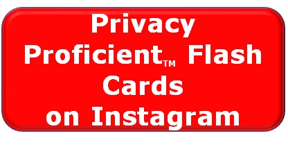 Privacy Proficient Flash Cards on Instagram